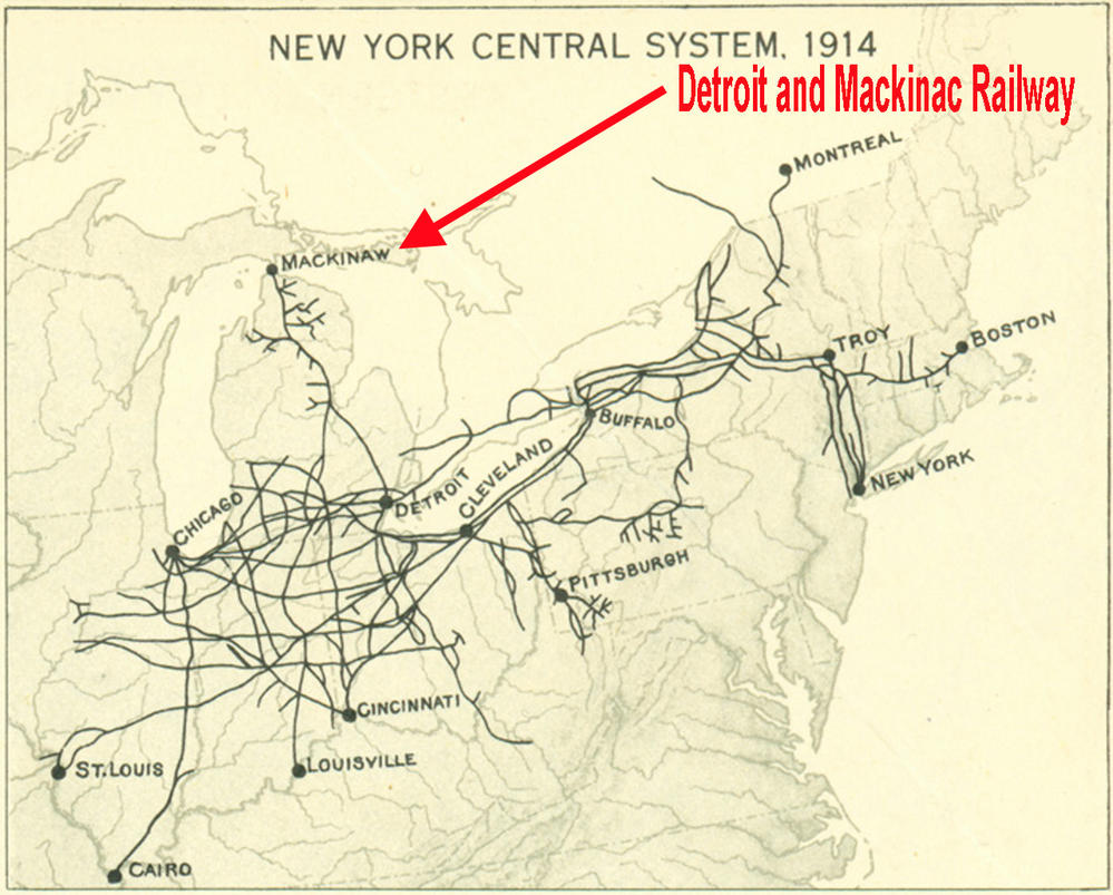 Map Of New York Rail System.Detroit And Mackinac Railway Trivia O Gauge Railroading On Line Forum