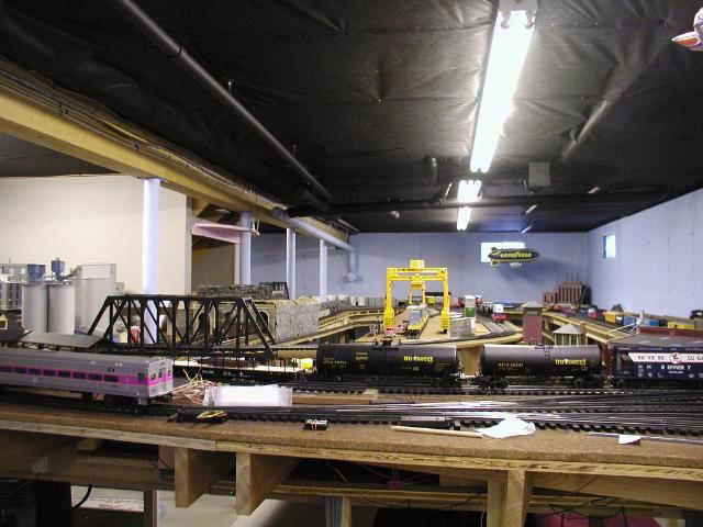 painting an unfinished basement ceiling O Gauge Railroading On