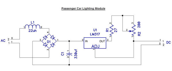 Passenger Car Lighting Module