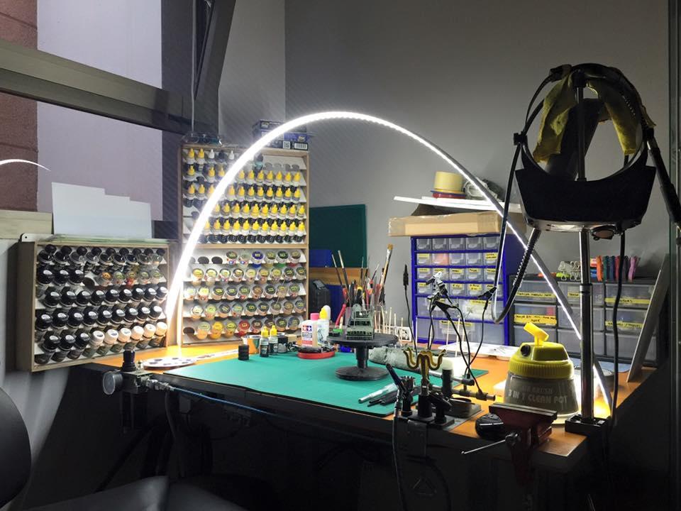 Led Light Bench : Workbench led strip lights o gauge railroading on line forum