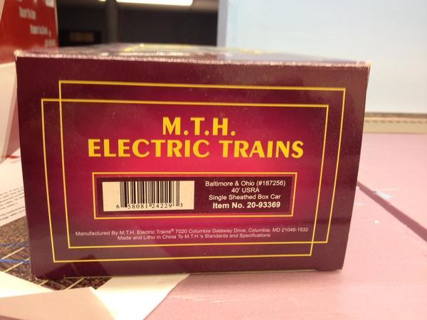 MTH B&O Box Label