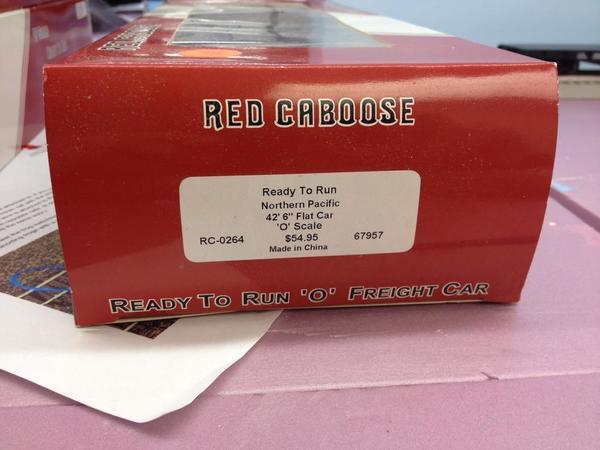 Red Caboose flat car box