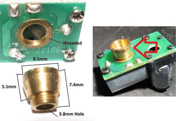 smoke unit brass cup dimensions
