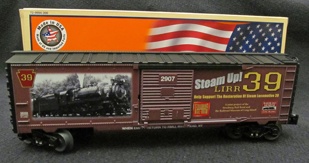 the railroad museum of long island lionel sku 6 58259 steam up lirr 39 boxcar o gauge. Black Bedroom Furniture Sets. Home Design Ideas