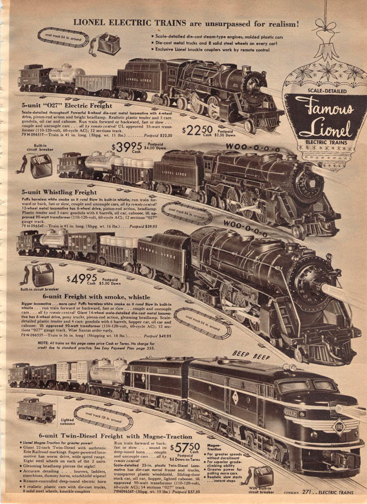 How Much Did A New Lionel Locomotive Cost In 1953