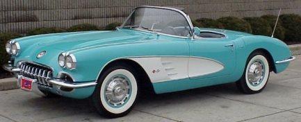 1960 turqoise convertible corvette PROTO 1