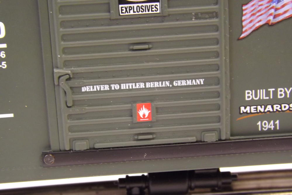 Menards WW II Commemorative Boxcar Picures O Gauge Railroading On - Does menards deliver
