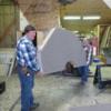 Straightforward Layout, Ray & Bob carrying platform to place on layout