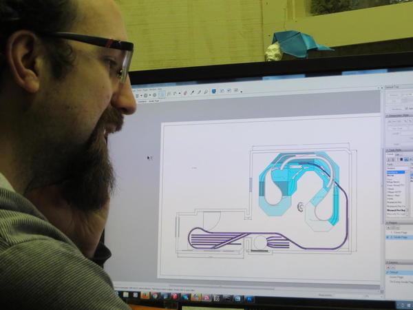Fletch checking Basic Layout on computer