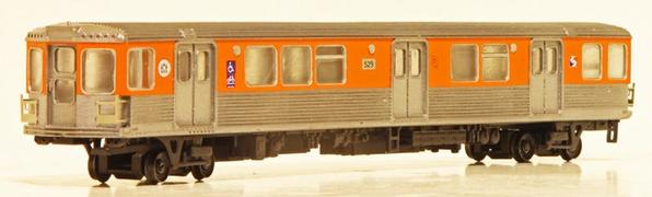 HO SCALE- Broad St Subway B-4 Car