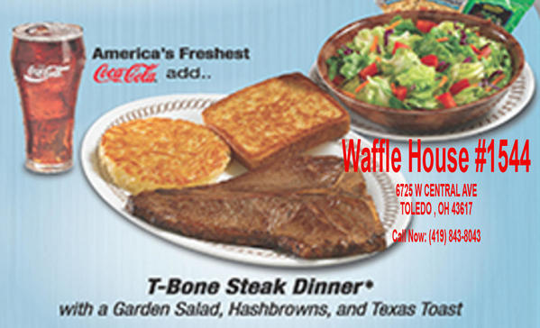 Waffle House T-Bone Steak Toledo Ohio