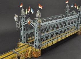 Marklin O Gauge Clockwork Girder Bridge Powered Toys