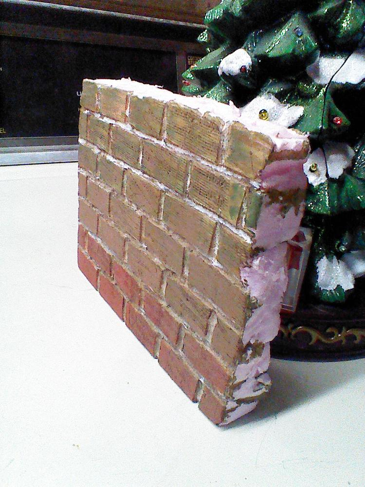 Making a block wall from foam if you have no artistic for Foam block wall construction