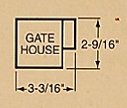 WALTHERS CORNERSTONE 933-2703 LAYOUT GATE HOUSE