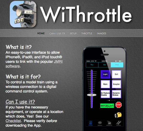 WiThrottle for iPhone
