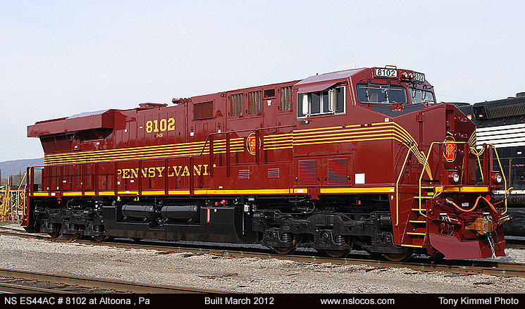 All 9 Norfolk Southern Heritage AS44EC have been completed this is how ...