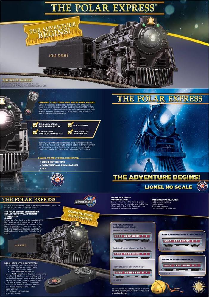 Lionel announces HO Polar Express Engine, Tender & Passenger