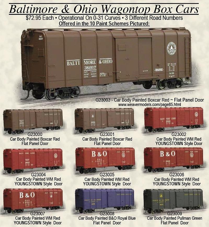 New Atlas Wagontop Boxcars---PRR