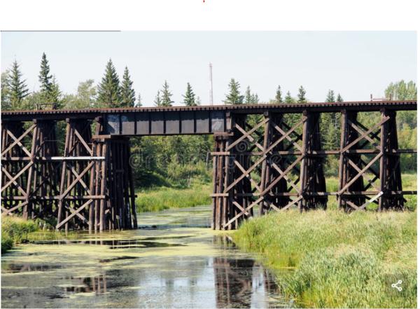wood trestle bridge 1