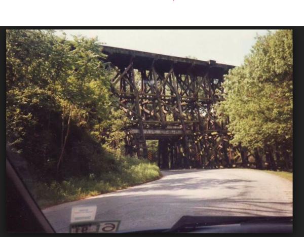 wood trestle bridge 2
