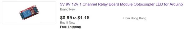 ebay 99 cent relay module 12v
