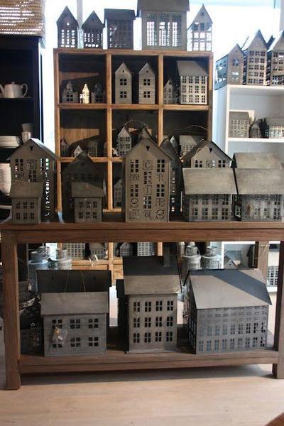 Scandinavian Zinc House Lanterns