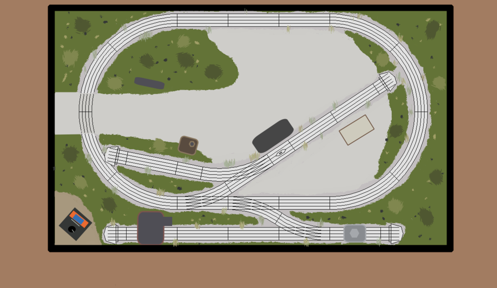 A 4x8 Fastrack Layout Plan O Gauge Railroading On Line