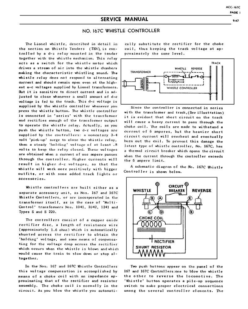 Nominal Voltage Drop for 167 Whistle Controller Choke Coil?   O Gauge  Railroading On Line ForumO Gauge Forum