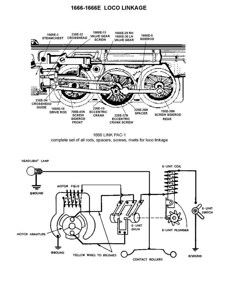 1937 1666e O Gauge Engine Diagram