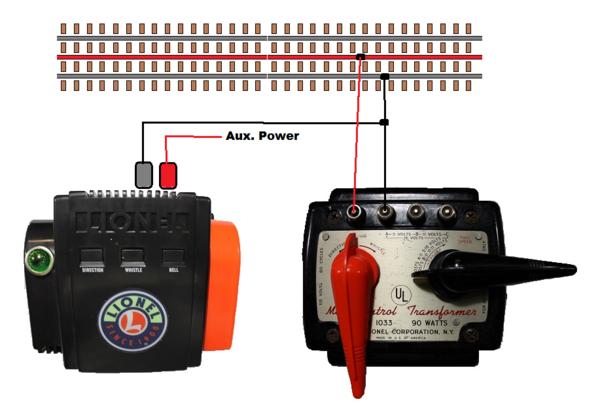 Hook up old lionel transformer