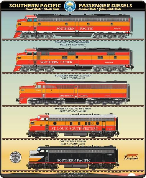 SP passenger diesels