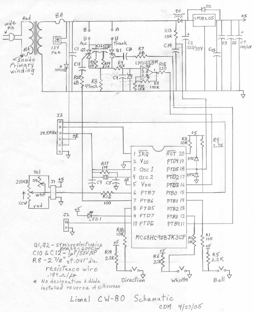 schematic for cw40 o gauge railroading on line forum rh ogrforum ogaugerr com Lionel Train Wiring Diagrams Switch lionel fastrack schematics