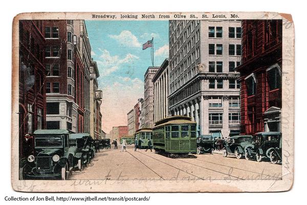 BroadwayLookingNorthFromOlive-1921