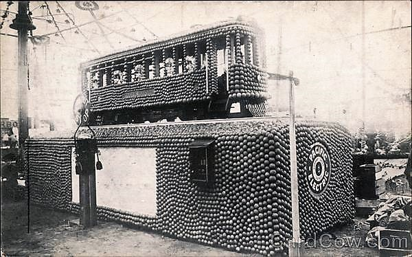 Pacific Electric Trolley Made of Apples