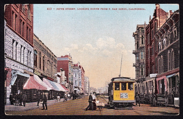san-diego-california-fifth-5th-street-trolley-antique-postcard-6c711b74769a5da1dde60a18cf315fea