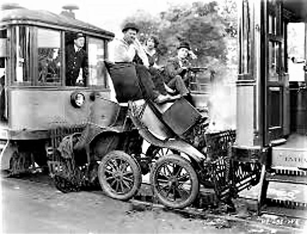 Laurel & Hardy Trolley Car Scene