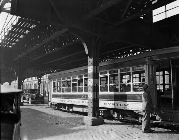 TARS Trolley under 3rd Ave El-1940's