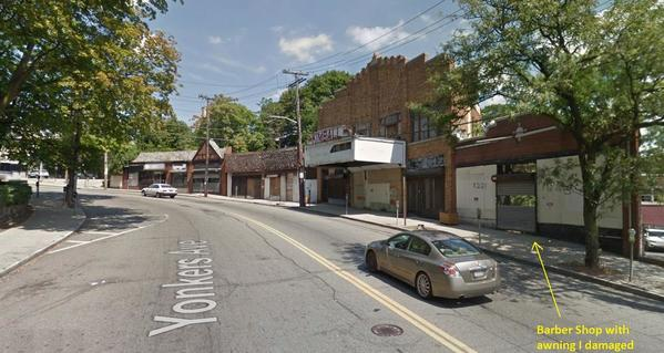 Yonkers Ave where I damaged awning in 1950 as a kid