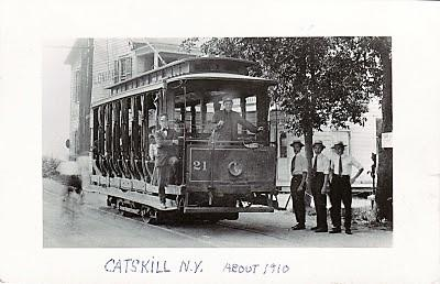 Catskill Electric Railway Company Trolley #21, about 1910