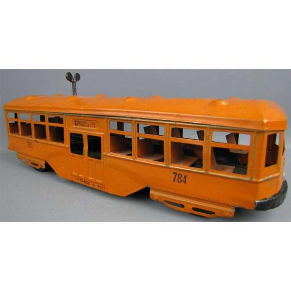 kingsbury-toys-784-tin-toy-bus-pressed-steel-trolley-wind-up-toy-in-orange