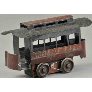 smith-white-tin-toy-tram-trolley-car-maroon-electric-motor