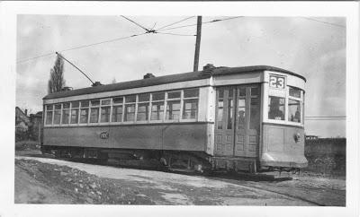 International Railway Company Trolley #23 at Buffalo, New York on February 22, 1948