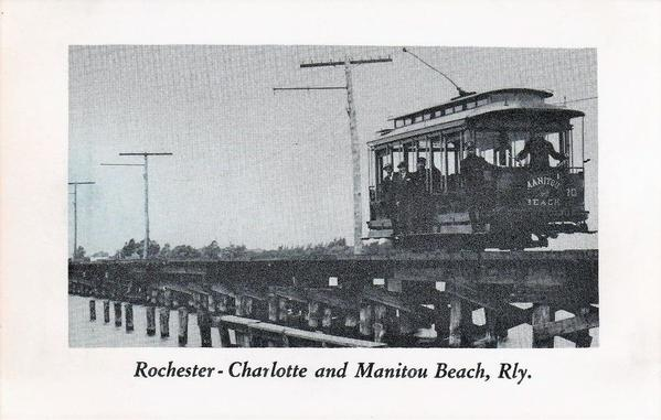Rochester, Charlotte & Manitou Beach Railway Trolley #10