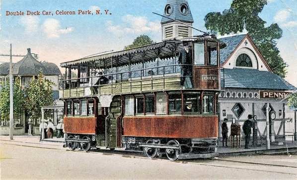Double Deck Trolley At Celoron Park, NY