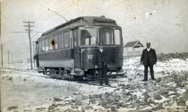 Exeter, Hampton & Amesbury Street Railway No. 12 At Hampton Beach