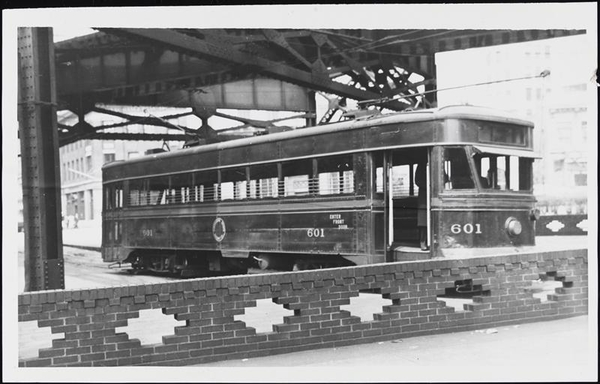 Bridge Trolley In Quieensborough Plaza 1930