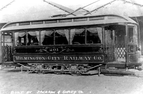 Wilmington City Railway # 201 [Jackson & Sharp Co, Nov 1896)