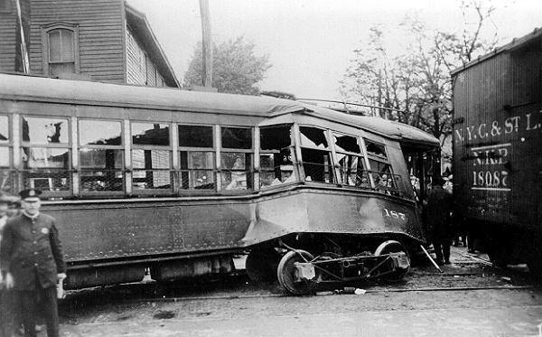 Erie Railways Car 187 Wreck