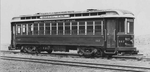 Boston Worcester Trolley Air Line Car 147