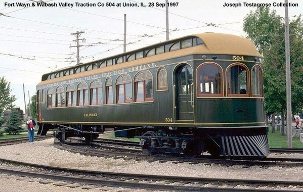 Ft Wayne & Wabash Valley Traction Car 504